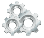 Execute, Freeware, Gears, Settings, Silver, Utilities icon by  Babasse