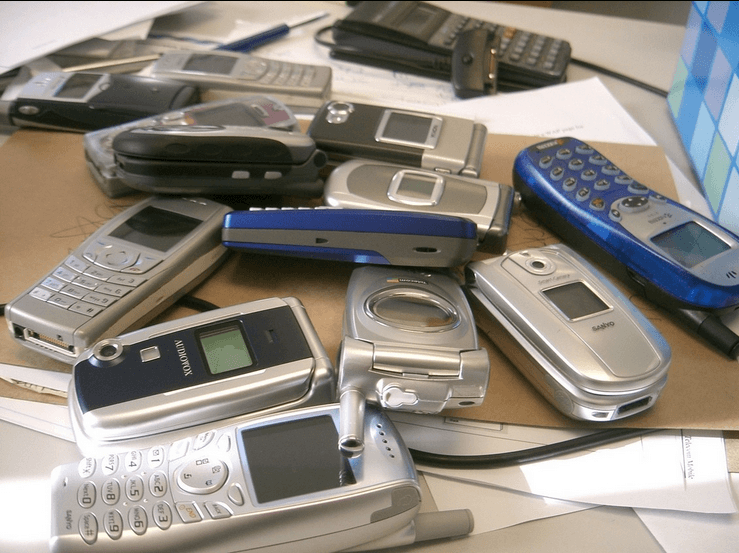 Cellphones on my desk
