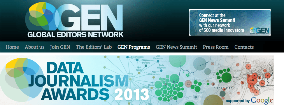The 2013 Data Journalism Awards