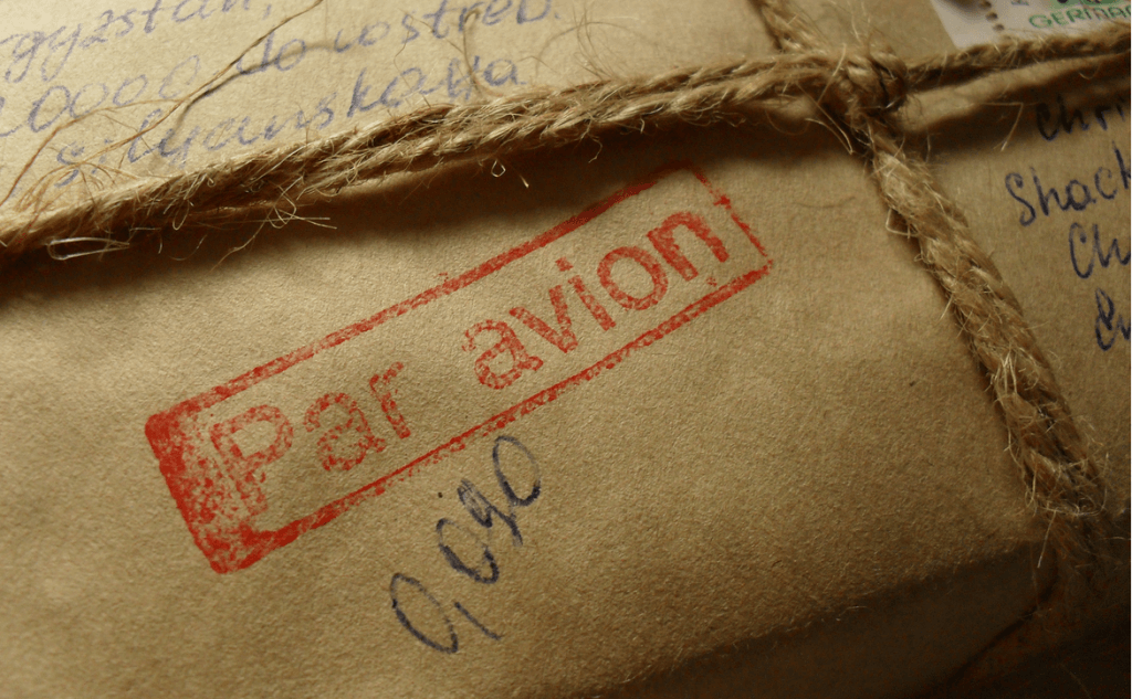 Par avion air mail