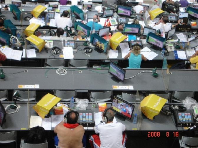 Journalists 2008 Beijing Olympics.