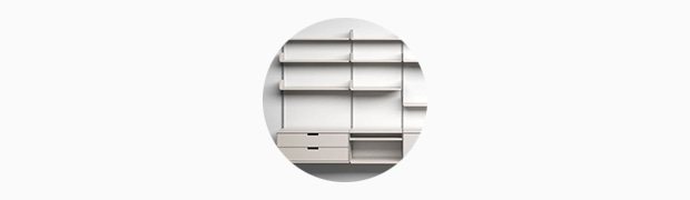 606 Universal Shelving System, 1960, by Dieter Rams for Vitsœ