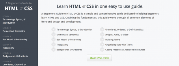 A Beginner's Guide to HTML & CSS