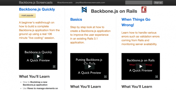 Backbone Screencasts