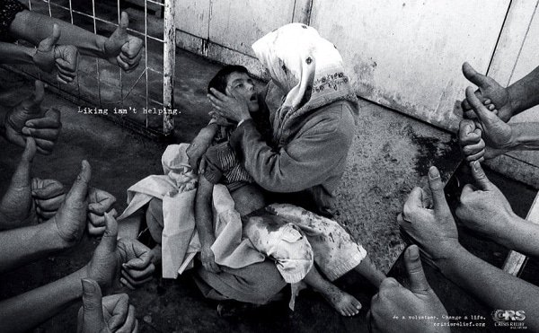 Liking Isn't Helping. Be A Volunteer. Change A Life