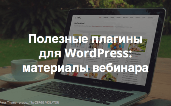 Видеозапись и материалы вебинара «Наиболее полезные плагины для WordPress»