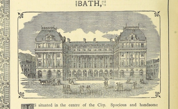 Одно из оцифрованных изображений Британской библиотеки. Image taken from page 100 of 'The Mineral Baths of Bath. The Bathes of Bathe's Ayde in the reign of Charles 2nd as illustrated by a drawing of the King's and Queen's Bath, signed 1675.