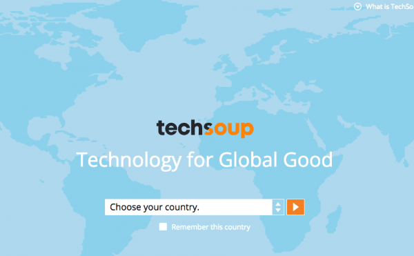 Фрагмент сайта TechSoup.Global.