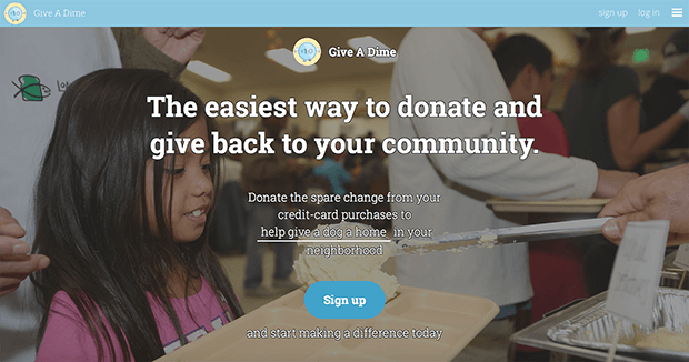 Give A Dime. Изображение: giveadime.org