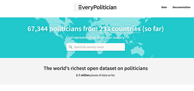 EveryPolitician. Изображение: everypolitician.org