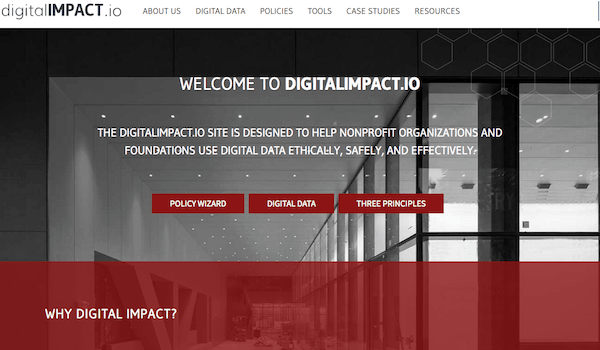 Фрагмент сайта digitalIMPACT.io.