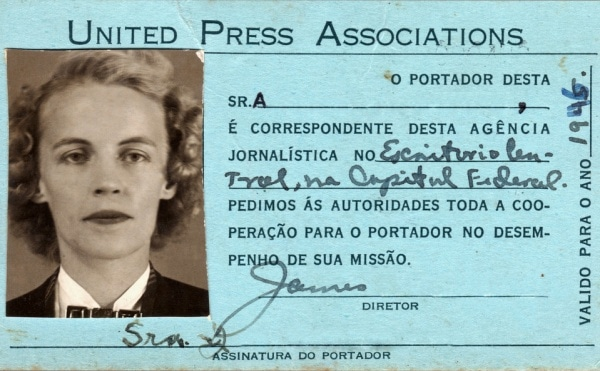 Mother's Brazilian United Press Credentials