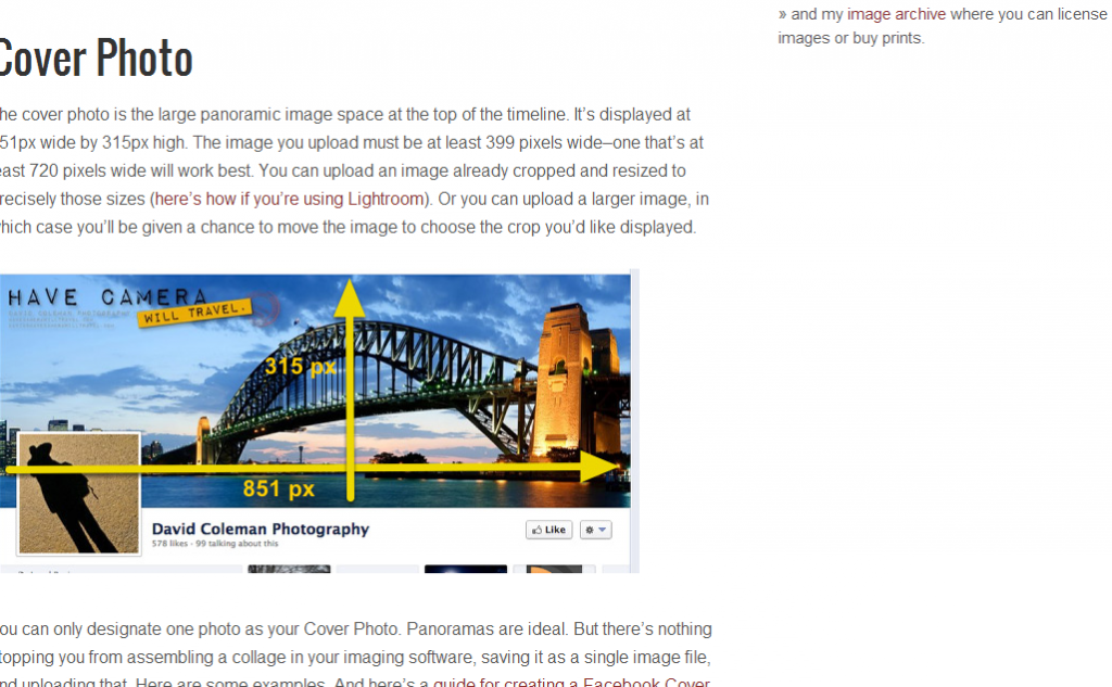Facebook Photos Size Guide: Dimensions & Types (2013 Edition) front page