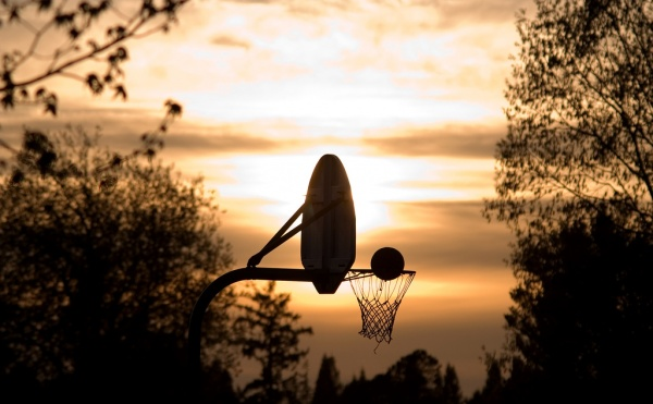 Basketball On A Warm Spring Evening Фото: StuSeeger