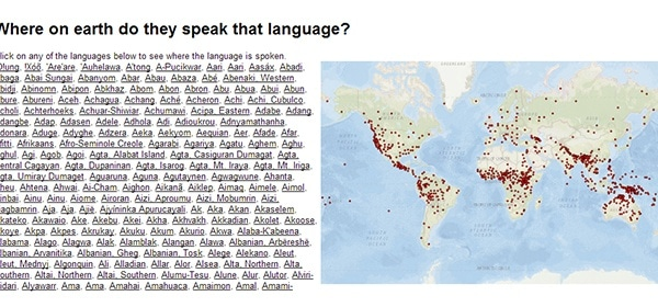 Where on earth do they speak that language?